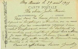 Carte-postale-ancienne-236-COURRIER-D-UN-POILU-Verso