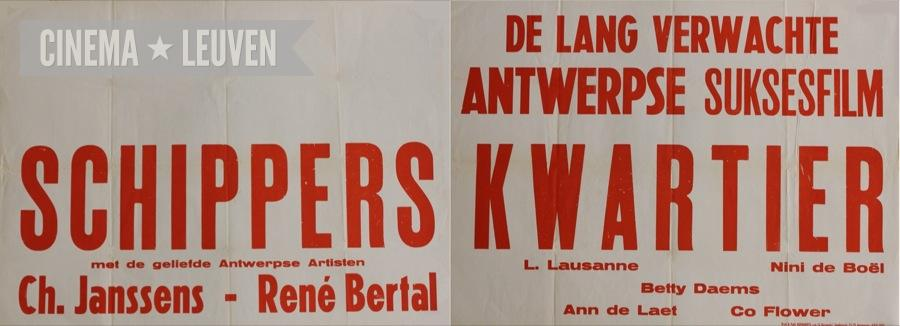 A poster for a screening of Schipperskwartier in Leuven.